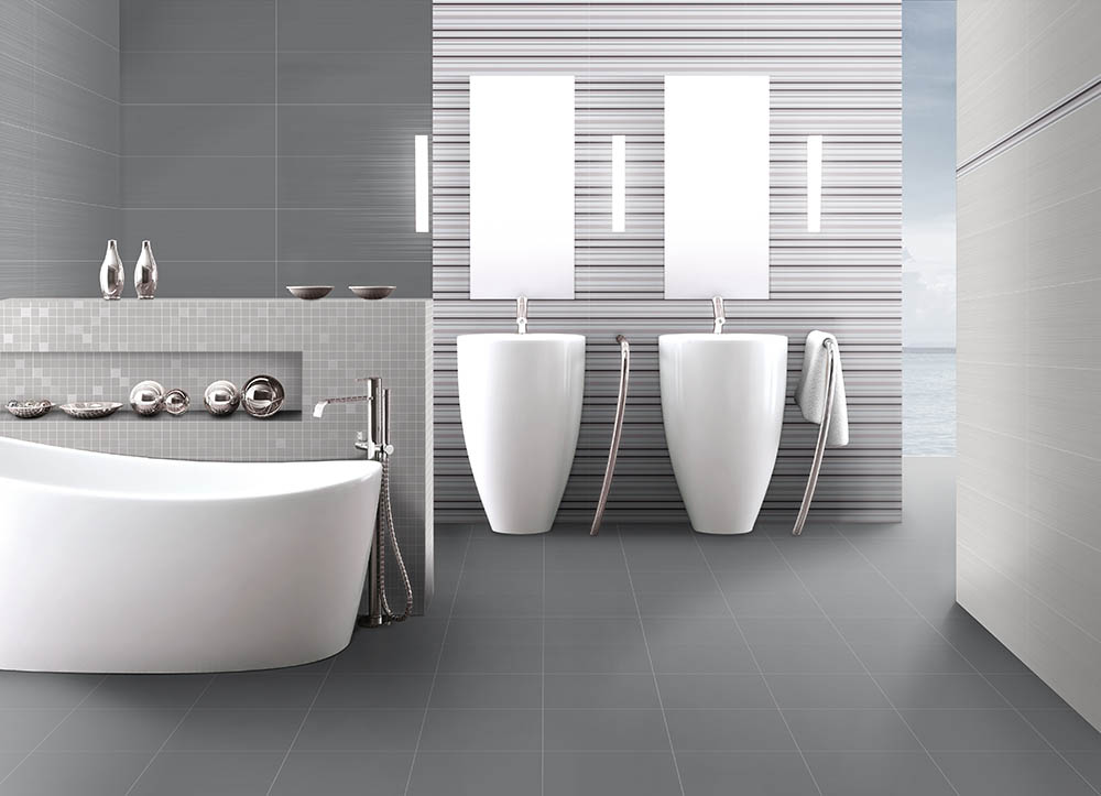 64a525454d8 Koupelna tvořená obklady a dlažbou Fusion. Inspirace pro Vaši koupelnu.