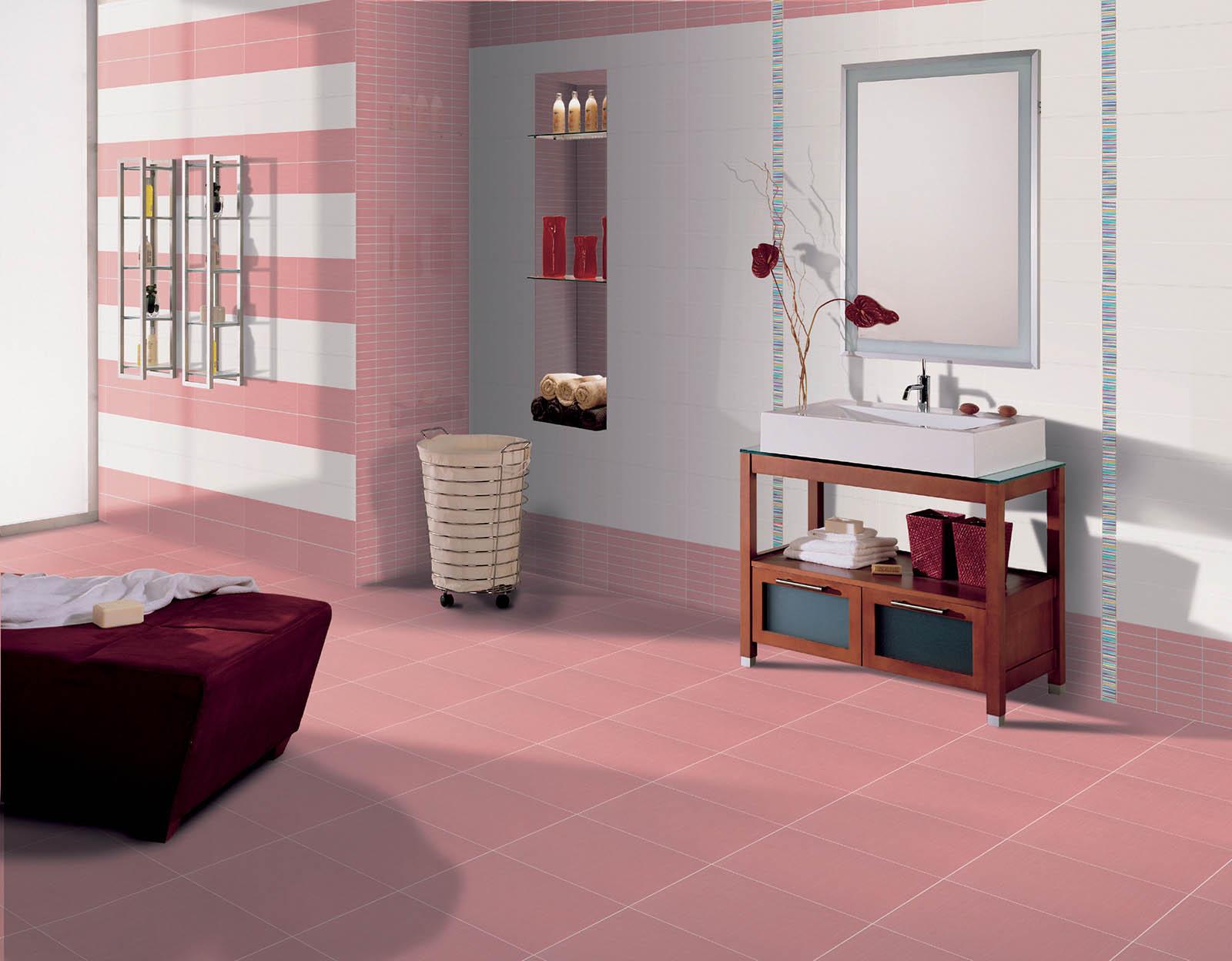 Fresh koupelna inspirace m b keramika - Piastrelle bagno rosa ...
